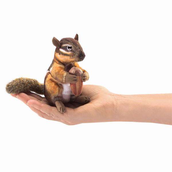 Folkmanis Mini Streifenhörnchen mit Eichel